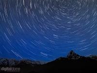 Star Trails over Machhapuchhre Mountain
