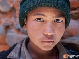 Portrait of a Tibetan boy