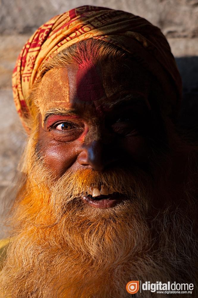 Portrait of Nepalese sadhu